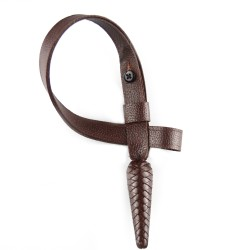 Brown Leather Royal Marines (RM) Officers Sword Knot with Acorn