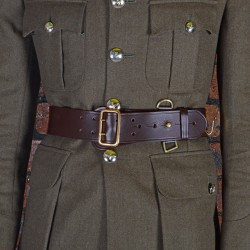 Size 8 Male Brown Waist Belt - Sam Browne - British Army Regiments and Corps