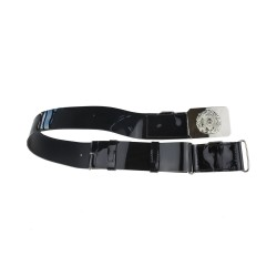 Pipe Majors and Pipers Scots Guards Black Waist Belt - Ceremonial Belt No 8 - British Army