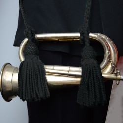 The Rifles and Gurkhas Cord and Tassels Bugle Black - British Army Bands