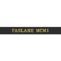 Faslane Mine Counter Measures Squadron Cap Tally - FASLANE MCM1 Cap Tally - Royal Navy