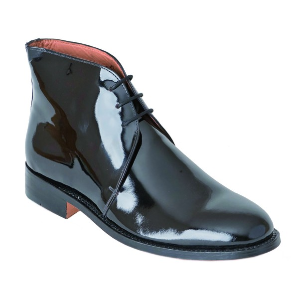George Boots - Size 9 - Black Patent Leather