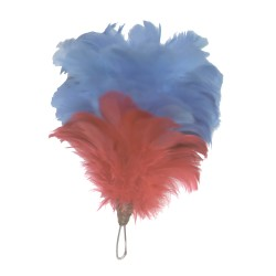 Liverpool Irish Rifles - Red/Blue Feather Plume / Hackle - British Army