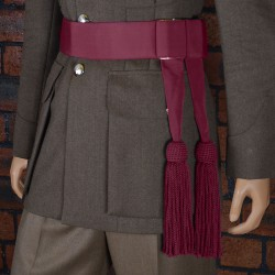 Lieutenants Ceremonial Waist Sash - Crimson
