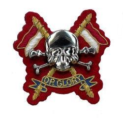 The Royal Lancers Officers - Hand Embroidered British Army Cap Badge
