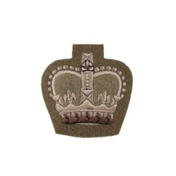 Quartermaster Sergeant, Colour Sergeant and Staff Sergeant - Small Crown Rank Badge - Household Division - British Army