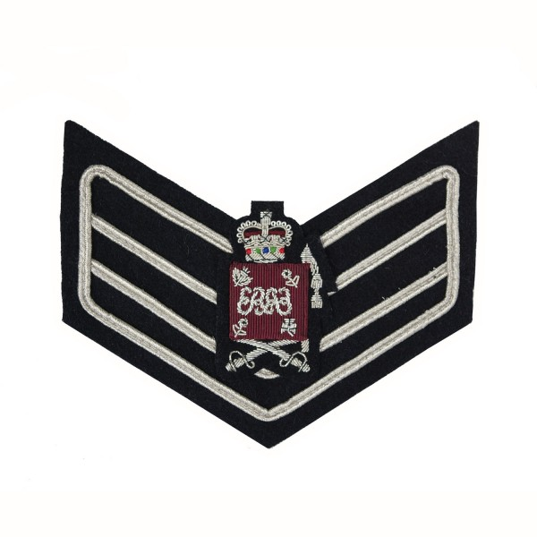 3 Bar Chevron Colour Sergeant (Sgt) and CQMS – Service Stripe – Honourable Artillery Company (HAC) Infantry - British Army