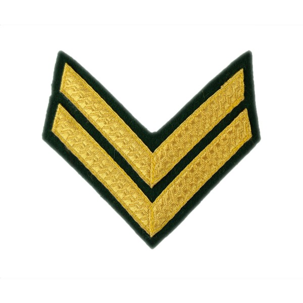 2 Bar Chevrons Corporal – Service Stripe - Royal Marines Badge