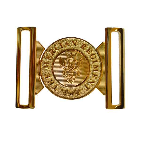 The Mercian Regiment  - British Army Waist Belt Buckle / Locket - Gold Plated