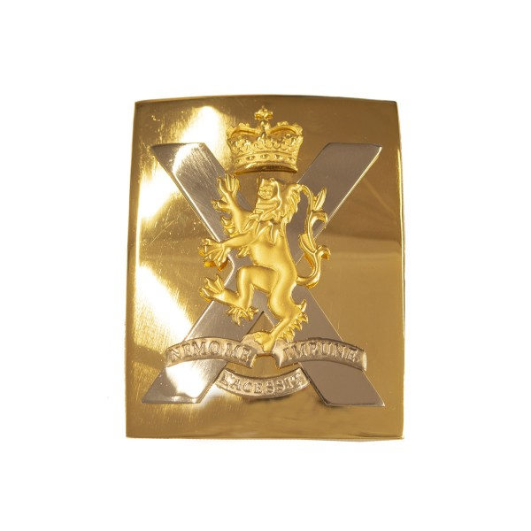 The Royal Regiment of Scotland Plate- Crossed Belt - Buckle - British Army