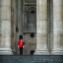 Grenadier Guard at St Paul\'s Cathedral